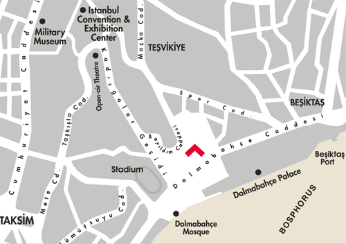 location of Swissotel The Bosphorus in taksim, istanbul
